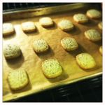 perfectly golden shortbread cookie