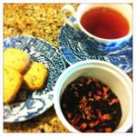 indian rose tea shortbread cookies trio