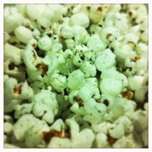 green tea salted popcorn