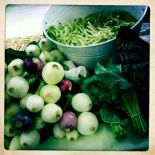sweet onions at the farmer's market