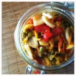 pu-erh kimchi close up