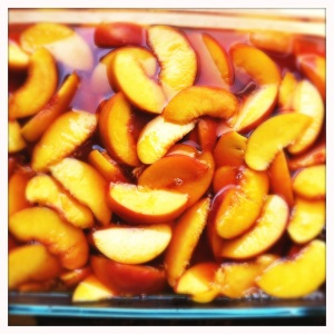 Jasmine Tea-Poached Peaches