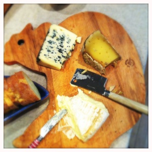 selection of french cheeses for julia child dinner