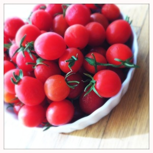 sweet baby cherry tomatoes