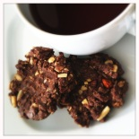 chocolate granola tea cookies