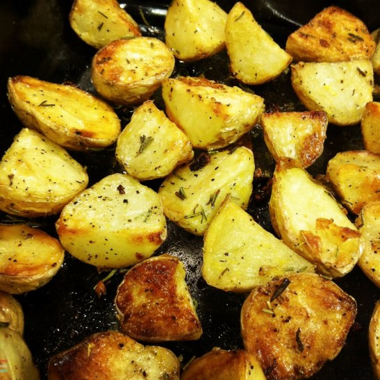 rosemary-lemon roasted potatoes