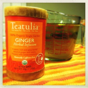 teatulia's ginger herbal infusion as the soup base