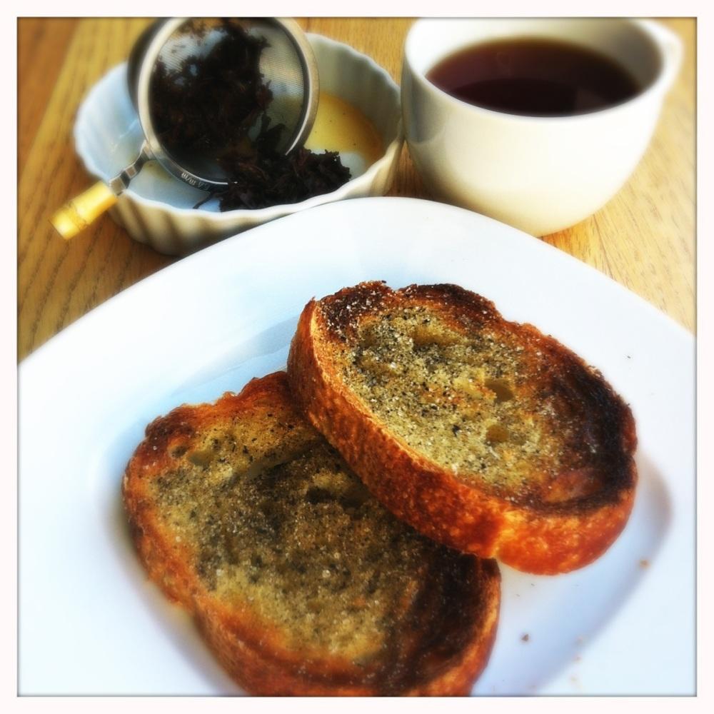 earl grey tea toast