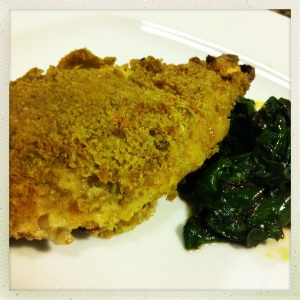 matcha breadcrumb baked chicken