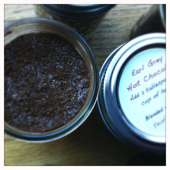 jarring earl grey hot chocolate mix
