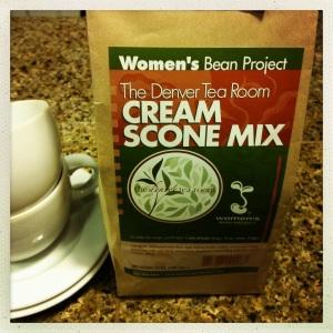 妇女豆项目烤饼混合