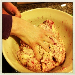 cranberry relish in scone mix
