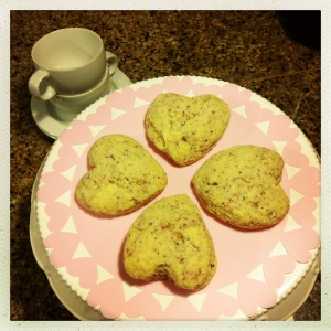 cheater sweetheart scones
