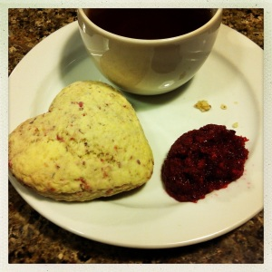 sweetheart scone and tea