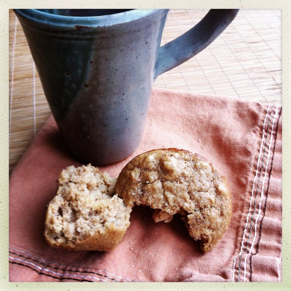 chai-spiced muffins and tea