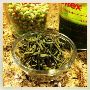 sencha green tea as risotto stock