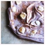 rooibos-ginger white chocolate bark close up