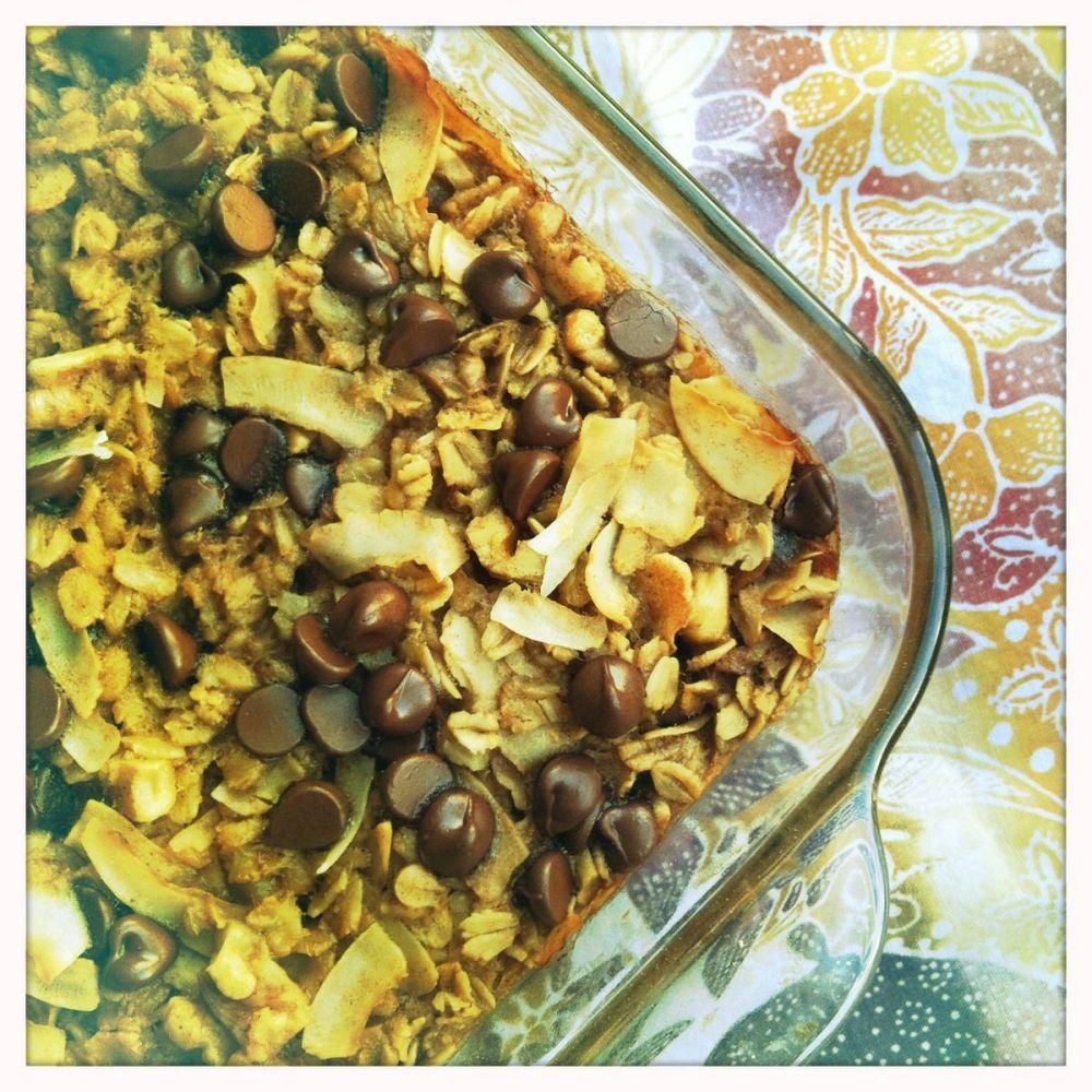 java tea baked oatmeal