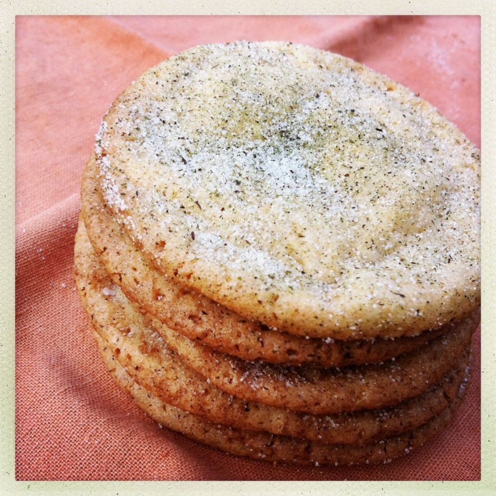 tea sugar snickerdoodles in chai, spearmint and lavender
