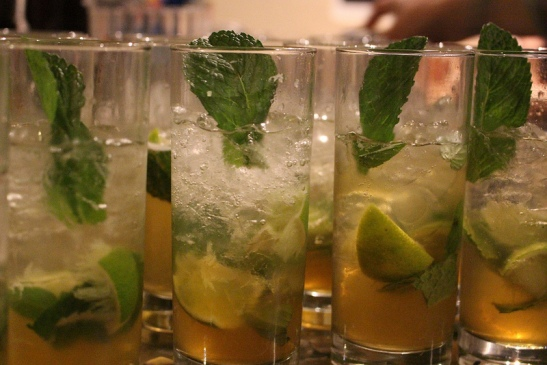 moroccan mint mojitos