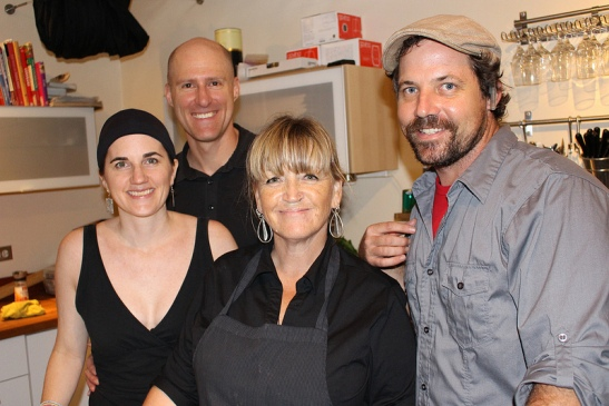 tea infused dinner chef team
