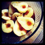 tea poached pears