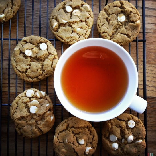 tea kissed chocolate chip cookies