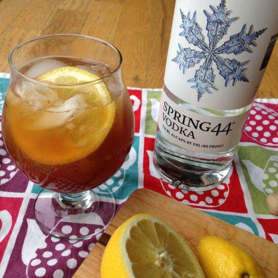 honey lemon ginger cocktail