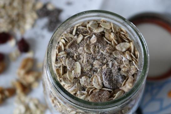 coconut milk powder in chai oatmeal mix