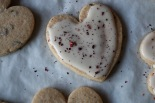 rose puerh heart tea cookies