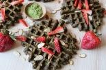 matcha almond waffles