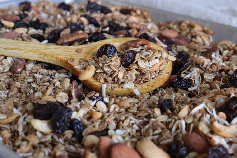 chai cherry coconut granola
