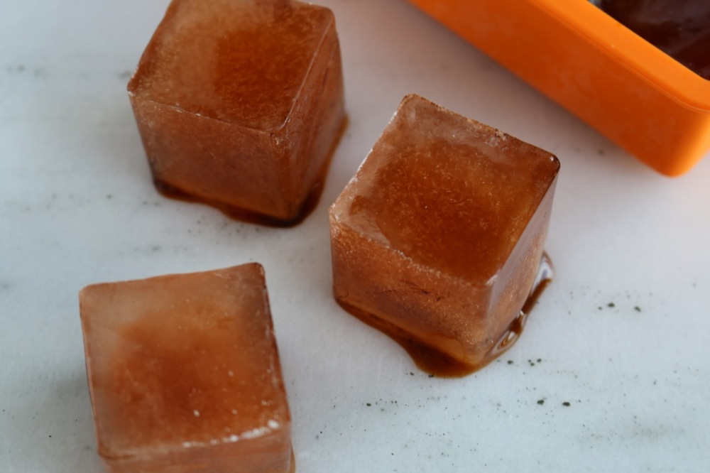 pu-erh tea ice cubes for smoothies