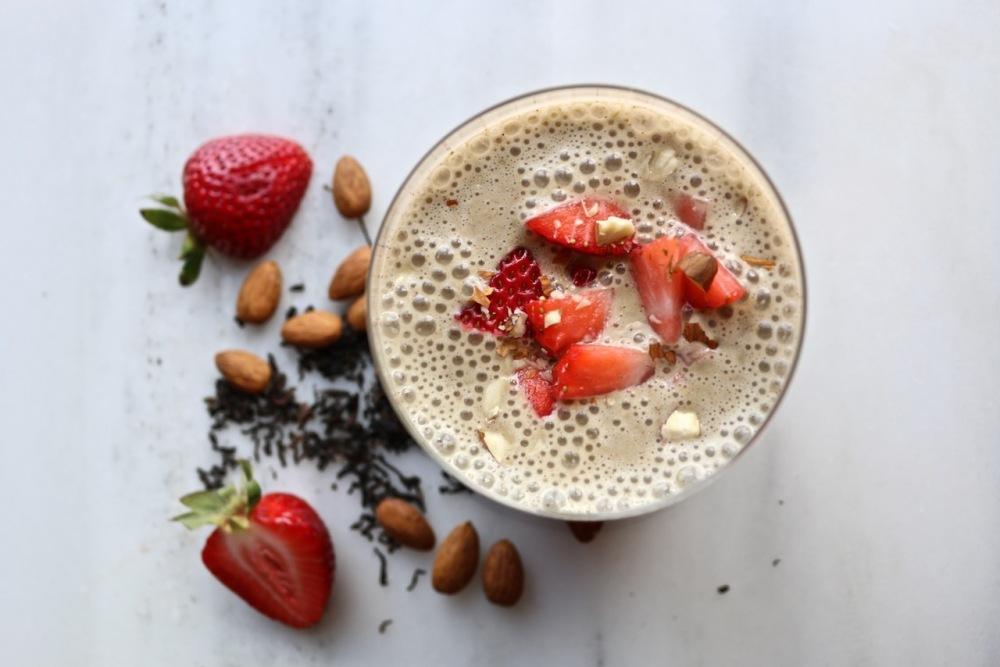 almond pu-erh protein shake
