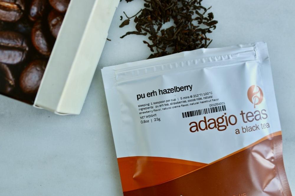 adagio pu-erh hazelberry tea