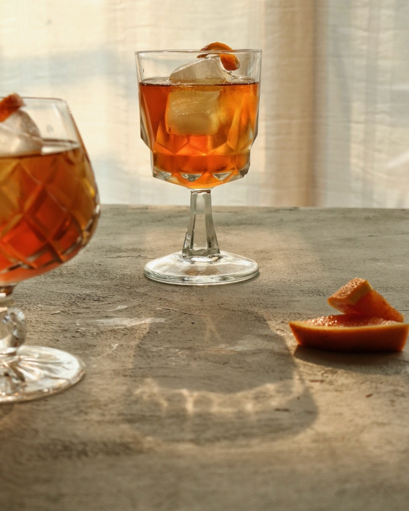 iced rooibos infused tea cocktail